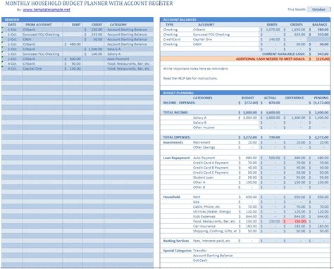 Household Budget Template Household Budget Template New Calendar Template Site