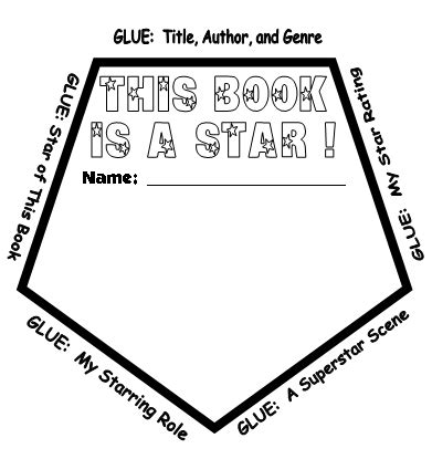 star book report project templates worksheets grading
