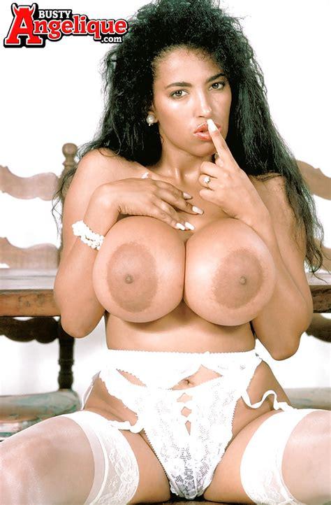 Famous Mexican MILF pornstar Busty Angelique displaying massive hooters - PornPics.com