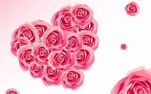 Love Flowers Heart Wallpaper For Desktop