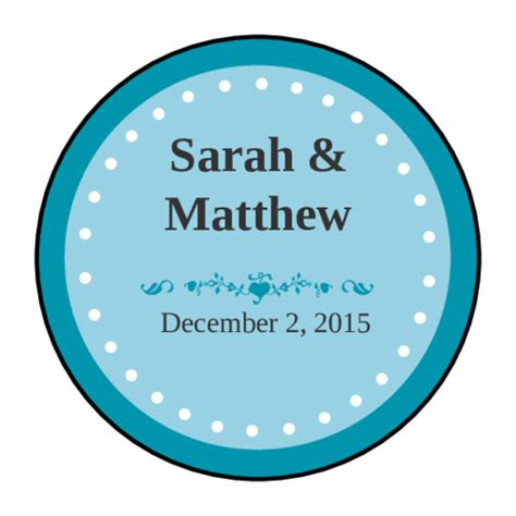 colonial azure wedding envelope seal label label