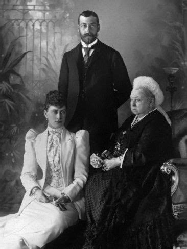 Queen Victoria with King George and Queen Mary