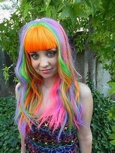 Totally thinking about ting some rainbow hair for my