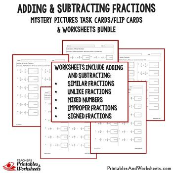 adding and subtracting fractions with like denominator worksheets unlike denom