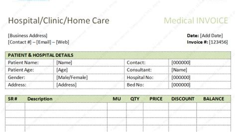 dental invoice template excel  word  bank