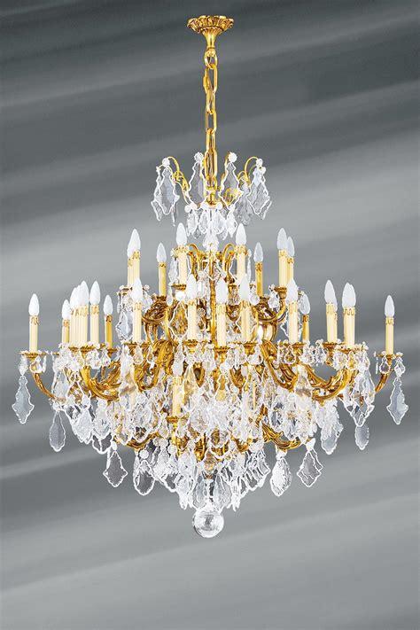 lustre cristal de boh 232 me louis xv dor 233 45 lumi 232 res lucien gau luminaires classiques de