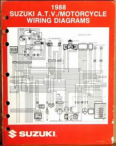 Suzuki Service Manual Motorcycle  U0026 Atv Wiring Diagrams