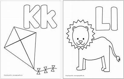 Coloring Alphabet Printable Easy Fun Peasy Letters