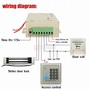Rfid Access Control Electric Door Lock Magnetic Id