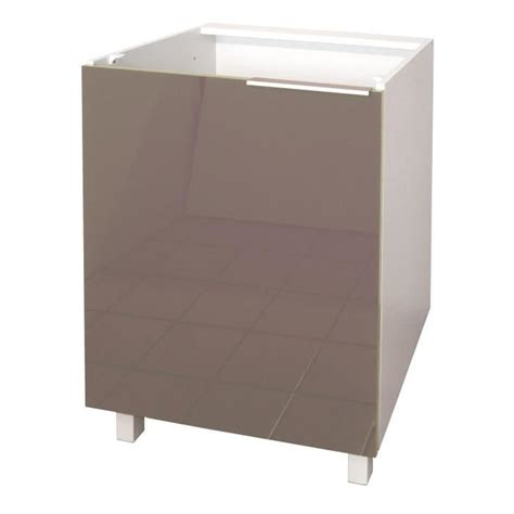 meuble bas cuisine 60 cm pop meuble bas de cuisine l 60 cm taupe laqué achat