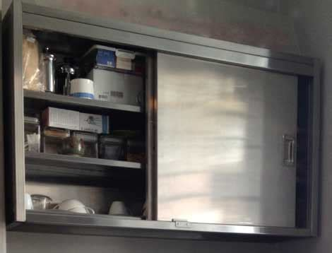 stainless steel   kitchen wall cabinet sector