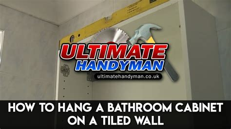 How To Hang A Bathroom Cabinet On The Wall by How To Hang A Bathroom Cabinet On A Tiled Wall