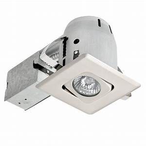 Globe electric in white ic rated dimmable round