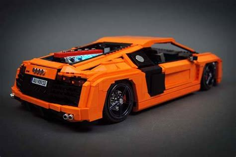lego audi r8 the awesome rc audi r8 v10 supercar built with lego bricks gadgetsin