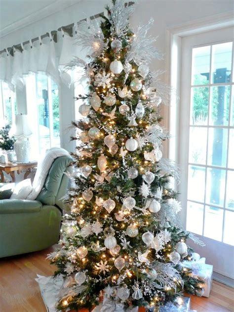 white  silver christmas tree design ideas