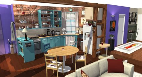 Home By Me : Friends Tv Show Apartment In 3d