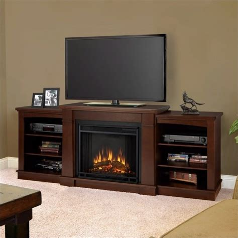 Menards Living Room Chairs by Real Flame Hawthorne Electric Fireplace Tv Stand In Dark