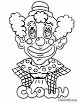 Coloring Circus Clown Printable Sheets sketch template