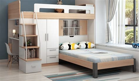 multifunctional bed  melamine particleboard lusty home