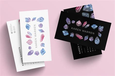 gemstones business card template business card templates