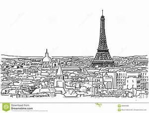 Dessin Fait Main : au sujet des toits du dessin fait main de paris ~ Dallasstarsshop.com Idées de Décoration