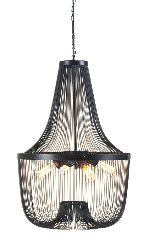 jessika black metal pendant light l000568
