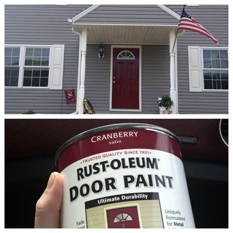 always wanted a front door paint is from lowes rust