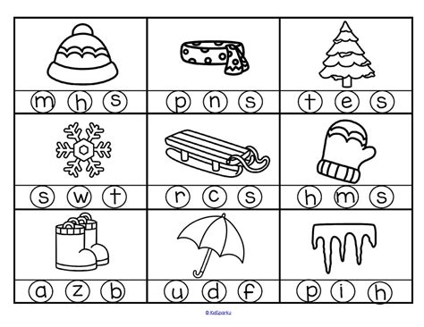 winter theme activities and printables for preschool and 152 | winter initial sounds freebie 18 page 2 orig