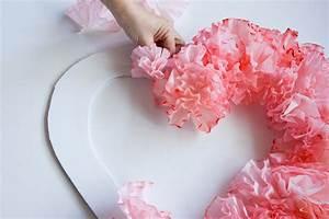 Fleur De Papier : diy de saint valentin une couronne de fleurs en papier ~ Farleysfitness.com Idées de Décoration