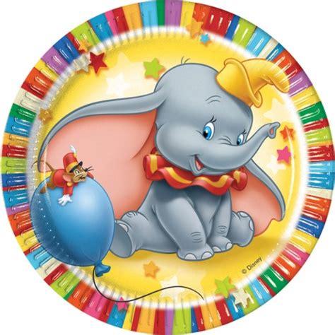 Colourful Dumbo Dinner Plates (6