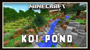 Minecraft: Koi Pond Garden Landscaping Design (Modern