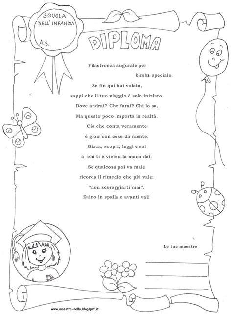 disegni bambini diplomati scuola infanzia diploma scuola prima maestra nella querciacb