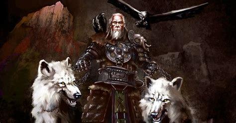 odin    wolves geri  freki   ravens