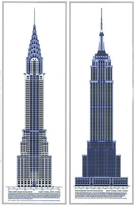 Chrysler Building Blueprint by Empire State Building Drawing Search