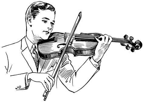 onlinelabels clip art vintage man playing violin  art