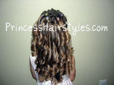 curling iron ringlets hairstyles  girls princess