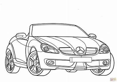 Mercedes Coloring Benz Pages Class Slk Smart