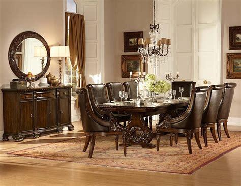 orleans dining table cherry  homelegance