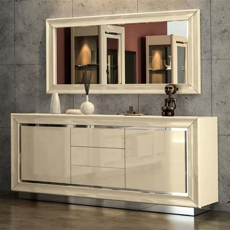 minton ivory high gloss  door sideboard   drawers