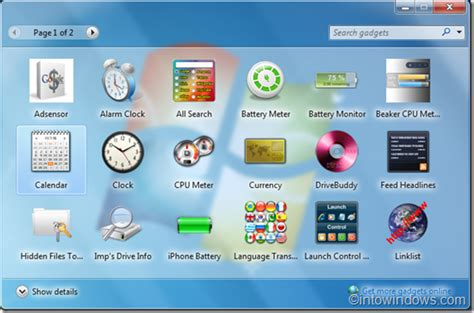 gadgets bureau windows 7 20 handy gadgets for your windows 7 desktop