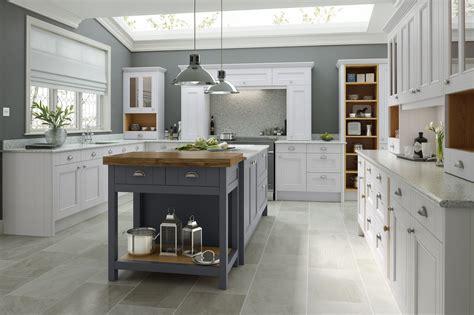 Country Kitchen In Chalk White & Castle Rock  Wren Kitchens