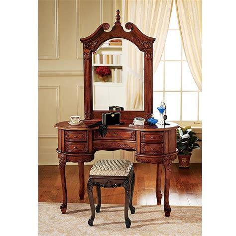 shop design toscano queen anne dressing table  mirror