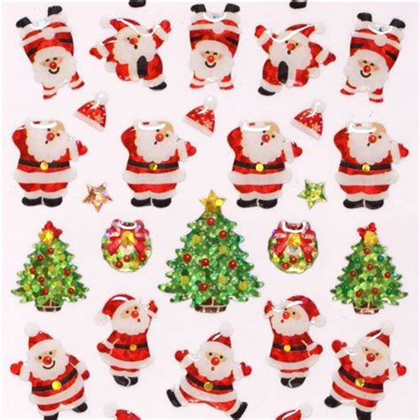 santa claus glitter stickers from japan stickers stickers