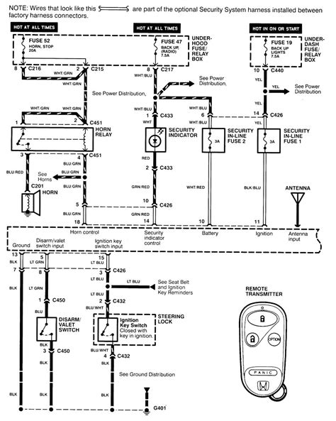 acura integra 1998 1999 wiring diagrams security