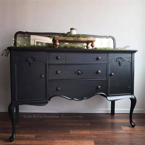 black painted buffet black painted furniture painted