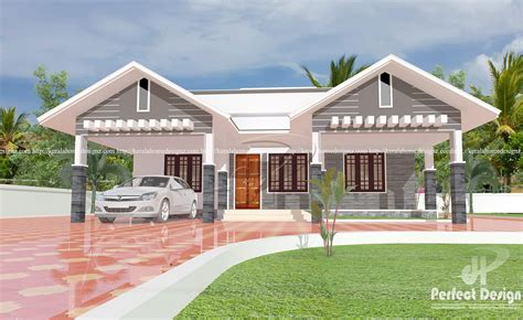 modern single floor home design kerala home design