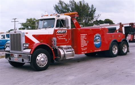 peterbilt 359 with bro wrecker tow truck kauff s west palm december 1998 american trucks