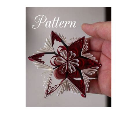 quilling pattern  printable template qd