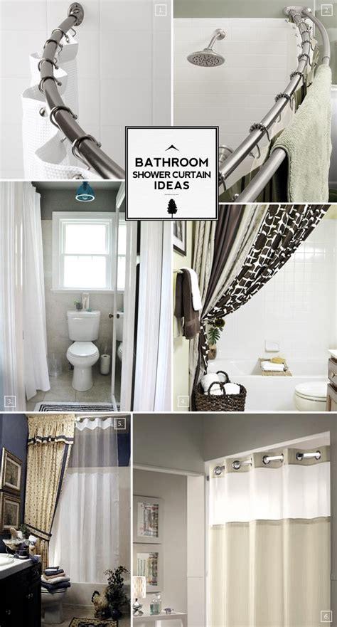 Ideas For Bathroom Curtains by Bathroom Shower Curtain Ideas From Space Saving To
