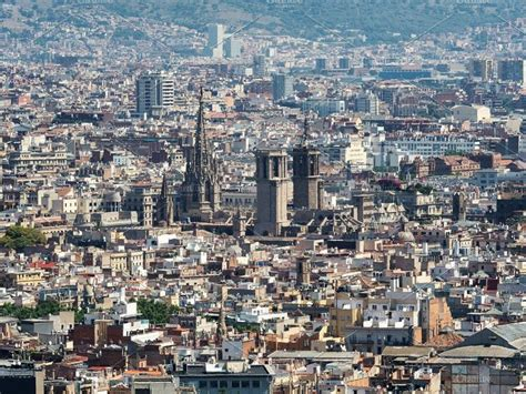 High angle view of Barcelona city in 2020 | Barcelona city ...